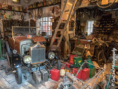 I must sort out my garage! (cee live) Tags: england bikes vintage garage workshop car cans engine machinery bicycle tools