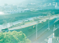 time to go to work (Kenji Kitae) Tags: morning city river people daily snap location landscape lifestyle lifework green earth hiroshima japan