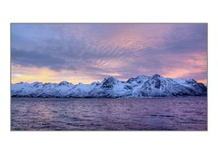 Mountains in Lofoten, Norway (Travelling Man Photos) Tags: sunrise norway lofoten mountains snow colours clouds sky