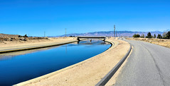 Around the Aqueduct (joe Lach) Tags: antelopevalley california fairmont blue brown californiaaqueduct flowingwater joelach mohavedesert mojavedesert river runningwater stream overpass roundtrip hike hiking