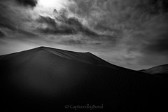 _8100539 (captured by bond) Tags: deathvalley sanddunes mesquiteflatdunes california capturedbybond windycitydogs getoffthecouch seetheworld fullframe blackandwhite lightisyourfriend