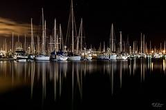 Harbour Reflections (markjones bris) Tags: night boat sailing boats stars reflections harbour manly longexposure dawn water harbor