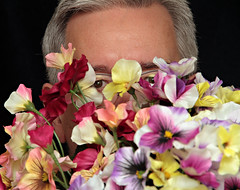 I brought you flowers.... (Mr_Camera71) Tags: funny humor flowers peeking peek aedimages canon