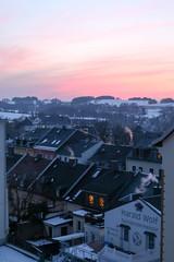 Abendrot ueber den Daechern von Annaberg (neuhold.photography) Tags: abend annaberg annabergbuchholz berge dach deutschland eis erzgebirge himmel kalt sachsen sonnenuntergang winter dcher dmmerung hgel klte