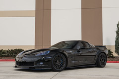 Chevrolet C6 Corvette ZR1 on Cray Astoria rotary forged wheels - 12 (tswalloywheels1) Tags: black chevrolet chevy c6 corvette z06 zr1 aftermarket rotary forged flow form monoblock staggered wheels wheel rim rims alloy alloys cray astoria 19x10 19x12