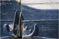 Open (duobel) Tags: latch paint texture blue
