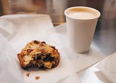 Levain Bakery (samanthahestad) Tags: new york city winter oatmeal raisin cookie food dessert bakery latte coffee