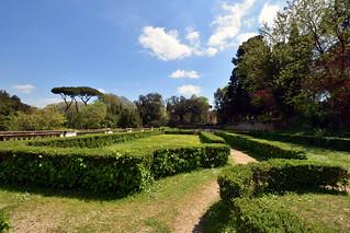 The Garden Maze, Villa Borghese Gardens, Rome, Italy.