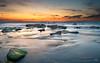 Palmachim Beach at Sunset IV (stollman_ron) Tags: seascape travel nikon d600 sea sky clouds longexposure israel rocks