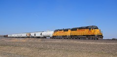UP Local at Hustle, IL (steam_marc) Tags: up union pacific emd gp60 hustle il illinois cei