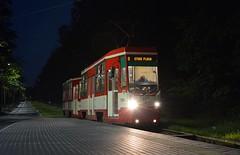 Konstal 105Na 1339+1340 (LukaszL99) Tags: gdańsk tramwaj tram strasenbahn stogi plaża konstal 105 105na noc zkm gait gdańskie autobusy tramwaje polska polen poland night nacht danzig gdansk