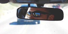 Sunday Funday (Alyssa_Morton) Tags: car driving cruise glasses face male mirror drive road handsome nose ears eyes hair color photo