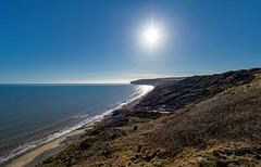 Yorkshire coast. (S.K.1963) Tags: elements sky sea coast sun reighton yorkshire england landscape olympus omd em1 mkii 7 14mm 28 pro