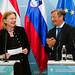 Pressekonferenz Außenministerin Karin Kneissl mit dem slowenischen Außenminister Karl Viktor Erjavec