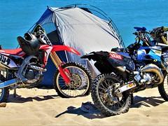 Bikes (thomasgorman1) Tags: bikes motorcycles motorcycle canon tent sand camping outdoors sea shore baja mx mexico shoes recreation ocean water