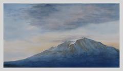 Mount Sopris at Sunrise *Explore* (bellydanser) Tags: mountsopris mountain rockies colorado carbondale art artwork watercolor painting sunrise fineart