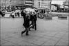 6_DSC6915 (dmitryzhkov) Tags: russia moscow documentary street life human monochrome reportage social public urban city photojournalism streetphotography people bw dmitryryzhkov blackandwhite everyday candid stranger crossing crosswalk group bunch kid children motion blur motionblur arbat arbatstreet outdoor