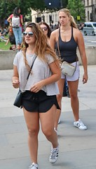 Follow Me (Waterford_Man) Tags: girls shorts tanned people path london candid street glasses