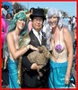 Dr. Takeshi Yamada and Seara (Coney Island sea rabbit). Brooklyn, New York.   20160618SAT MERMAID PARADE. DSCN6654==0010pC2R (searabbit29) Tags: takeshiyamada fineartexhibitions museumcollections famous japanese japaneseamerican artist osaka tokyo japan tv painting sculpture photography graphicdesign sideshow freakshow banner gaff performance fashiondesign fashion tophat jabot jewelrydesign victorian gothic goth steampunk dieselpunk fashiondesigner playboy bikini roguetaxidermist roguetaxidermy taxidermist taxidermy specialeffect cabinetofcuriosities dimemuseum seara searabbit coneyisland mythiccreature cryptozoology cryptid brooklyn newyorkcity nyc newyork