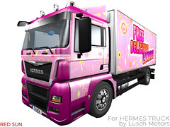 Delicious Candies Cabin&Trailer Painting for Hermes Truck (cuuka) Tags: paint painting cuuka redsun red sun candy candies rose pnik girl creepy truck cabin trailer hermes lusch motors kushino shop slsecond life secondlife textures mod
