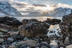 Vareid Shoreline (Keith - Glasgow) Tags: arctic wildphotographyholidays wph beach winter travel vareidsundet lofoten vareid landscapes norway d850 shore nordland no