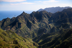 Fissured valley (Rico the noob) Tags: 2018 d850 landscape nature outlook mountains outdoor clouds mountain 2470mmf28 sea grass trees sky published ocean tree travel forest house dof tenerife water teneriffa coast 2470mm valley