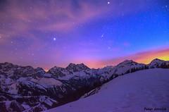 After sunset in Karwendel - Vorderskopf (peter-goettlich) Tags: sonnenuntergang sterne karwendel tirol nacht gebirge orion sirius groserhund canismajor