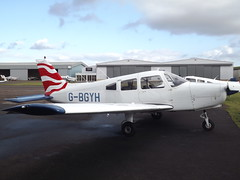 G-BGYH Piper Cherokee Warrior 28 Tayside Aviation Ltd (Aircaft @ Gloucestershire Airport By James) Tags: gloucestershire airport gbgyh piper cherokee warrior 28 tayside aviation ltd egbj james lloyds