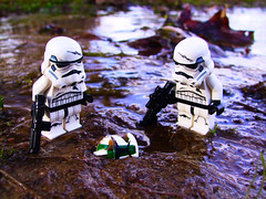 Found (Sethalonian's Gallery) Tags: star wars starwars war stormtroopers outdoors outside swamp camera