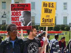 Anti-War Demonstration at The White House (Susan Melkisethian) Tags: washington washingtondc whitehouse war protest peace antitrump antiwar syria bombing codepink martinlutherking