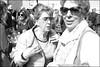 (Ray Ban Women #12 & 35) (Robbie McIntosh) Tags: leicam9p leica m9p rangefinder streetphotography 35mm leicam summicron leicasummicron35mmf20iv blackandwhite bw biancoenero bn monochrome summicron35mmf20iv autaut eyecontact rayban demonstration nodebito napoli naples digital protest women eyewear sunglasses