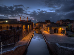 Comacchio, Italy (Mia Battaglia photography) Tags: village water nightscape night hdr comacchio italy exif:model=em1markii camera:make=olympus exif:make=olympus exif:aperture=ƒ28 exif:isospeed=1250 exif:lens=olympusm714mmf28 camera:model=em1markii exif:focallength=13mm bluehour