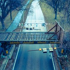 Overpass (Hub☺) Tags: 2012 bridge canada manitoba road trafficlight winnipeg ca