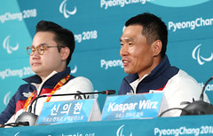 Press_conference_of_Sin_EuiHyun_01 (KOREA.NET - Official page of the Republic of Korea) Tags: 2018평창동계패럴림픽 패럴림픽선수촌 paralympics 2018pyeongchangwinterparalympic sineuihyun goldmedal 신의현 금메달