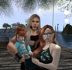 (Leilani Kala Schuyler) Tags: sl secondlife redhead ocean home dock blue sky love toddleedoo td
