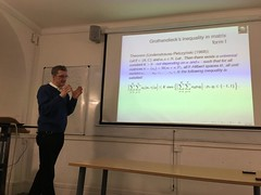 Mathematician Frank Oertel gives a Sigma Club lecture