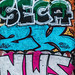 Graffiti and colorful urban Art
