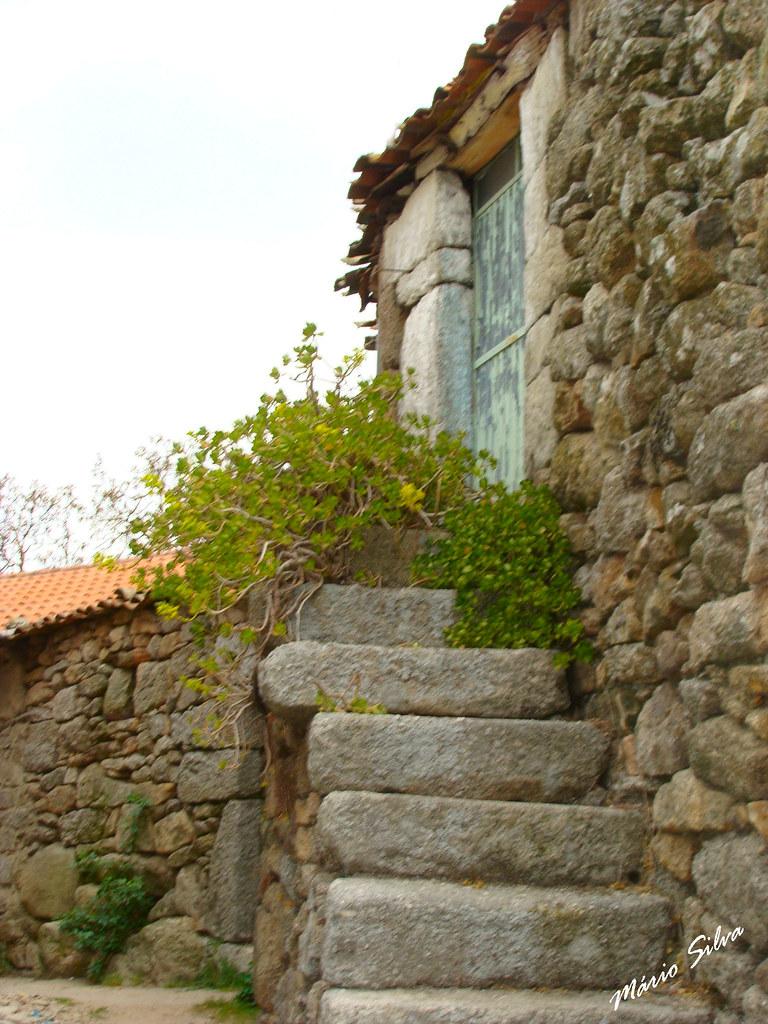 Águas Frias (Chaves) - ... escadas ... agora com pouco uso ...