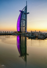 Burj Al Arab - Sunset (FletchImages) Tags: dubai building burj al arab sony a99ii alpha carl zeiss united emirates travel reflection sunset long exposure uae fletch images