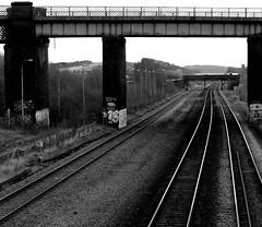 Tracks n Bridges. Feb 2016 (SimonHX100v) Tags: railway britishrail trainline train nottingham nottinghamshire bridge bridges simonhx100v sonydschx100v sonyhx100v hx100v blackandwhite blackwhite monochrome monotone greyscale grayscale bw bnw