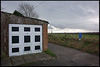 16th of January 2018 (Paul of Congleton) Tags: diary january 2018 lunchtimewalk moulton northwich cheshire england uk garage door field sky path winter digital sony rx100