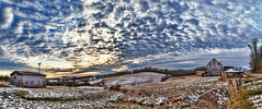 8R9A0871-74Ptzl1TBbLGER2 (ultravivid imaging) Tags: ultravividimaging ultra vivid imaging ultravivid colorful canon canon5dm3 clouds scenic sunsetclouds rural stormclouds sky snow winter twilight evening vista fields farm barn