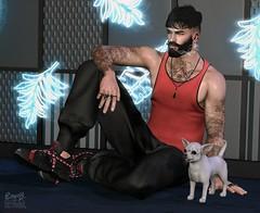 . EohB . #Catwa #Burley #Straydog #Kalback #Xenials #ValeKoer #MP #Oakwood #L'etre #SU #WRONGPoses #MOM (Crayolas Clothes) Tags: catwa burley straydog kalback xenials valekoer letre su wrongposes pose chico sit floor gay guy men man dude buddy male homme sl slfashion slblogger slfashionblogger slmen fashionmen fashion neonlight neon bearded tank sweatpants gems shoes avatar belleza