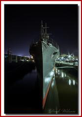 HMS Caroline (Deek Wilson) Tags: hmscaroline belfast battleofjutland ww1 royalnavy destroyer belfastattraction nightphotography night shadows shipsbow northernireland