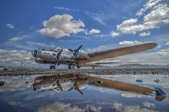 B-17 Reflections (Michael F. Nyiri) Tags: marchfieldairmuseum planes b17bomber airplane riversideca southerncalifornia flight clouds sky