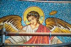 2018-03 Mosaics Phase XII Installation 013A1954 (Greek Orthodox Church of the Holy Cross) Tags: belmont california unitedstates mosaic iconography tonelli greek orthodox church