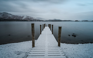 fresh snow at the jetty