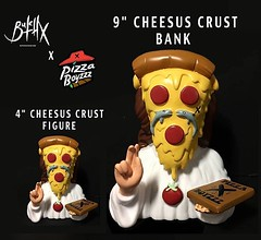 Repost @pizzaboyzzz ・・・ 🍕✖🍕✖ Who's ready to save their pizza money in the fresh new Cheesus Crust banks that are baking up?! . 9 Inch vinyl banks. Over double the size of the toy versions. . @Butchovision X @Pizzaboyzzz The second rising of th (The Coma King) Tags: squadlit pin pins enamelpins enamelpin lapelpin lapelpins pingame pinlife patchgame hatpin hatpins pingamestrong pingameproper pinnation hatpinsforsale