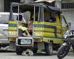 Don't Forget.... (Beegee49) Tags: truck street yellow dog chained children bacolod city philippines