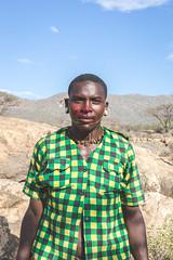 Samburu Warrior with Blood on Face (nblomley1) Tags: depthoffield canon kenya samburu